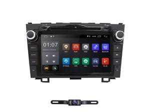 Android 90 8 Inch Double Din Car Radio Stereo DVD Player GPS CanBus Mirrorlink Bluetooth OBD2 Multi Touch Screen Rear View Backup Camera for Honda CRV 2007 2008 2009 2010 2011