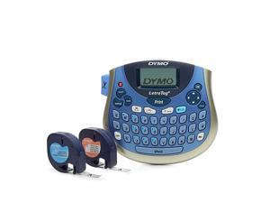 LetraTag LT-100T Plus Compact, Portable Label Maker with QWERTY Keyboard (1733013),Silver/Blue