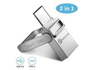 USB C Flash Drive  Memory Stick 128GB OTG USB 30+Type C Waterproof Thumb Drive Dual Drive USB Stick with Keychain Metal for Android SmartphoneNew MacBookGoogles Chromebook Pixel