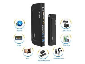 USB 30 Universal Docking Station Dual Video Monitor Display DVI HDMI VGA Gigabit Ethernet Audio 6 USB Ports for Laptop Ultrabook and PCs
