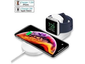 Wireless Charger for Apple Watch  Magnetic Wireless Charger 2 in 1 Charging Pad Stand Compatible for with for iPhone XsXS MAXXRX 8 PlusiWatch Series 4321 38mm 42mm