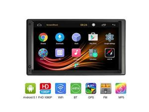 Double Din Car Stereo 7 inch HD Touch Screen MP5 Player inDash 2 Din with GPS Navigation WiFi AMFM CD Play USB BT Multimedia Entertainment