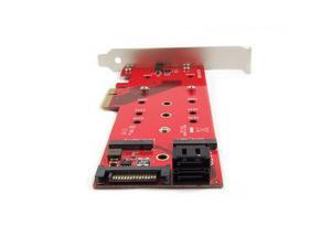 PEXM2125 M2 NGFF to PCI Express 30 x4 Adapter Card Support 1x M2 PCIe NVMe or AHCI SSD + 2X M2 SATA SSDs