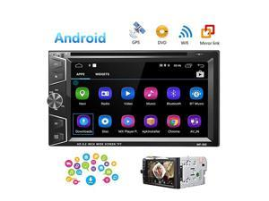 Double Din Android Car Stereo Radio 62 Touch Screen DVD Player Buildin GPS Navigation WiFi Bluetooth Support Android iOS Mirror Link with FMUSBSDBackup Camera InputAPP Download