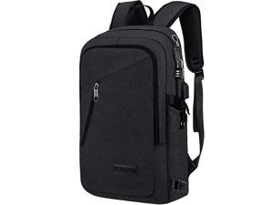 Slim Laptop Backpack Business Computer Backpack with USB Charging Port for Men WomenAnti Theft Travel Daypack College BackpackWater Resistant School Bookbag Fit 156 inch LaptopBlack