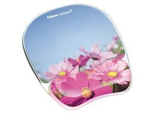 Photo Gel Mouse Pad and Wrist Rest with Microban Protection Pink Flowers 9179001