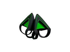 Kitty Ears for Kraken Headsets Compatible with Kraken 2019 Kraken TE Headsets Adjustable Strraps Water Resistant Construction Green