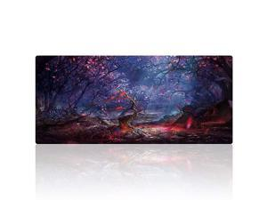 XXL Professional Large Mouse Pad amp Computer Game Mouse Mat 354x157x01IN 90x40 Forest