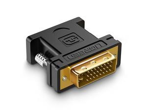 DVI to VGA Adapter, DVI-I 24+5 Male to VGA HD15 Female Adapter Converter 1080P for Computer, PC Host, Laptop, Graphics Card to HDTV, LG HP Dell Monitor, Display Screen and Projector