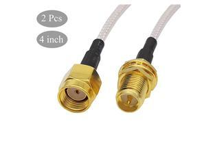 Extension Cable Pigtail RP SMA Male to Female WiFi Antenna Cable RF RG316 Coaxial Coax Jumper FPV Antenna Wire 4 inch 2 Pcs