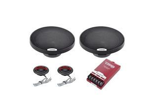GENX65C Component Set 65 2Way 150W Max 50W RMS Black Paper Cone Silk Dome Tweeters 4 Ohms Clarity Unparalled by Other Speakers in Their Class 2 Speakers