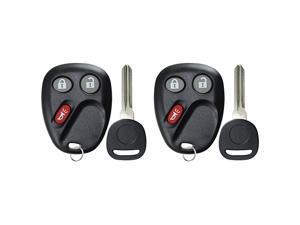 Keyless Entry Remote Car Key Fob Key for Chevy Trailblazer GMC Envoy Pack of 2