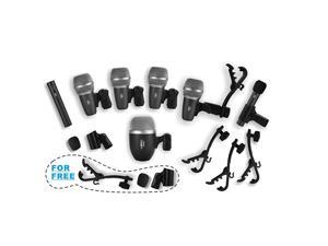 Wired Drum Microphone Kit for Drum and Other Musical Instruments A whole set