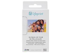 50 pack of film for  Augmented Reality Photo AND Video Printer 2x3 Zero Ink sticky backed film