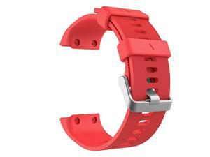 Compatible with Forerunner 35 Watch Band Soft Silicone Replacement Watch Band Sport Bracelet Strap with 6pcs Screws and 2pcs Screwdrivers for Forerunner 35 GPS Running Smart Watch Red