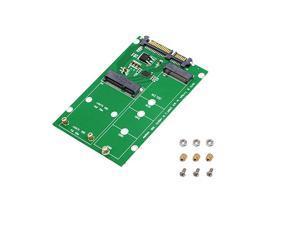 2 in 1 Combine Mini PCIE M2 NGFF mSATA SSD to SATA 30 Adapter Converter SATA30M