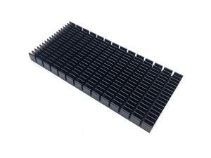 Heat Sink Heatsink Module Cooler Fin Heat Radiator Board Cooling for Amplifier Transistor Semiconductor Devices Black Tone 150mm L x 70mm W x10mm H