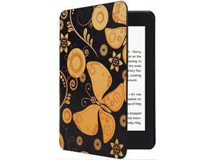 Kindle Paperwhite Case All New PU Leather Smart Cover with Auto Sleep Wake Feature for Kindle Paperwhite 10th Generation 2018 Released Butterfly