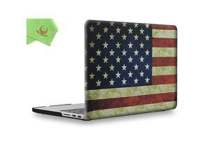 Rubberized Unique Pattern Solid Hard Case Cover for MacBook Pro Retina 15inch Mid 2012 to Mid 2015 Model A1398 NO CDROM NO Touch Bar US Flag