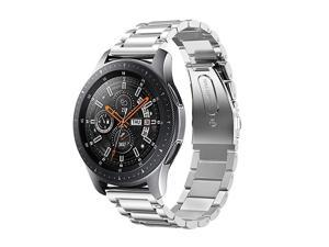Compatible with Samsung Galaxy Watch 46mm Bands 22mm Solid Stainless Steel Metal Replacement Strap for Galaxy Watch 46mm SMR800 Silver