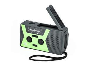 2020 Upgraded Version  Portable Camping Weather Radio Emergency Solar Crank Radio with Flashlight and Reading LampAM FM NOAA Weather Radio2000mAh Power Bank and SOS Alarm018WB Green