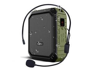 Voice Amplifier Personal Portable Microphone Headset 18W Hear Loud All in One Bluetooth Speaker Waterproof Recording AUX Jack for Teachers Outdoor Speech Tour Guide