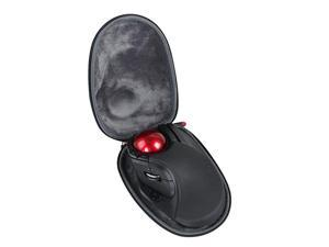 Hard EVA Travel Black Case fits ELECOM Wireless Trackball Mouse Extra Large Ergonomic Design 8Button Function MHT1DRBK