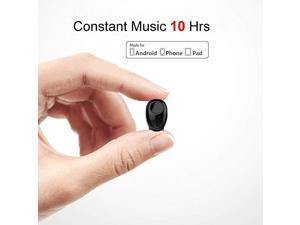 Earbud 10 Hrs Playtime Single Wireless Earphone Mini Headset HandsFree Car Headphone Cell Phone Earpiece for iPhone Samsung Android Phones PC TV Audiobook