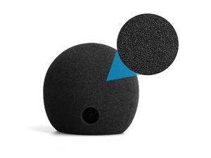 Foam Cover for Blue Snowball Microphone Windscreen Foam Cover for Snowball Wind Cover Compatible with Blue Snowball Ice Microphone Black