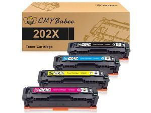Compatible Toner Cartridges Replacement for HP 202X 202A CF500A CF500X for HP Laserjet Pro M281fdw M254dw M281cdw M281fdn M280nw 4 Packs