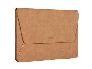 Laptop Sleeve Compatible with MacBook Air 13 2018-2021 A2337 M1 A2179 A1932,MacBook Pro A2338 M1 A2289 A2251 A2159 A1989 A1706 A1708,PU Leather Ultra Slim Flap Style Protective Case, Brown