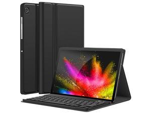 Tab S5e Case with Keyboard 2019 T720 T725 PU Leather Flip Stand Case Magnetically Detachable Wireless Keyboard Case for Samsung Tab S5e 105 Inch SMT720 SMT725 2019 Black