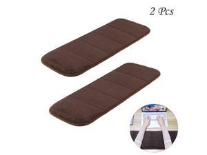 2Pcs Computer Wrist Elbow Pad  Upgraded Wrist Rest Arm PadSoft AntiSlip Keyboard Wrist Elbow Support Mat for Office Desktop Working Gaming Less Elbow Pain 79 x 236 inch Brown