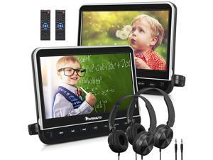 101 Dual Car DVD Players with HDMI Input 2 Headphones Mounting Bracket Support 1080P MP4 Video Region Free2 x Headrest DVD Players