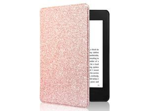 Kindle Paperwhite Case All New PU Leather Smart Cover with Auto Sleep Wake Feature for Kindle Paperwhite 10th Generation 2018 Released Pink Glitter
