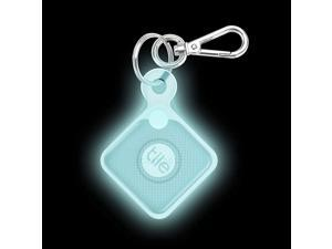 Silicone Case with Carabiner Keychain for Tile Pro 2020 2018 AntiScratch Lightweight Soft Protective Sleeve Skin Cover Blue Glow in The Dark