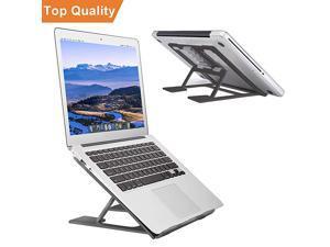Laptop StandVentilated Portable Ergonomic Notebook Riser for DeskMultiAngle Portable AntiSlip Mount for MacBook Surface Laptop Notebook 1017 Tablet Black