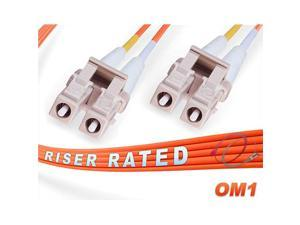 3M OM1 LC LC Fiber Patch Cable | 1Gb Duplex 625125 LC to LC Multimode Jumper 3 Meter 984ft | Length Options 05M 300M | 1gb 10gb lclc mmf lcupc sfp 1gbase mmd dx pvc ofnr