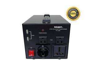ITU1000 Series HeavyDuty AC 110220V Step UpDown Voltage TransformerConverter with US Standard Universal GermanFrench Schuko AC Outlets 1000 Watt