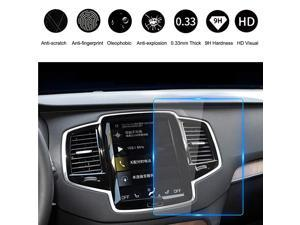 20172019 Volvo Car Navigation Touch Screen Protector for V90 XC40 XC60 XC90 S90 9 Inch ScratchResistant Ultra HD inDash Clear Tempered Glass Screen 9H Hardness 033mm Thickness9in