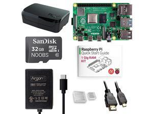 x Raspberry Pi 4 1 Gig Kit   Barebones with Raspberry Pi 4 Case   PreInstalled Noobs   Includes Micro HDMI to HDMI Cable TypeC Power Supply Quick Start Guide for Raspberry Pi 4