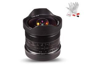 7.5mm F2.8 II V2.0 APS-C Format Fisheye Lens with 190° Angle of View Compatible with Sony Emount Cameras with Protective Lens Cap, Lens Hood and Carrying Bag