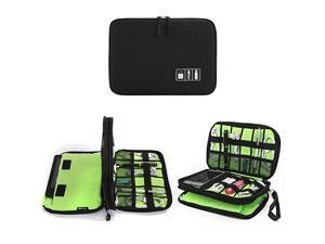 Electronics Organizer  Electronic Accessories Cable Organizer Bag Waterproof Travel Cable Storage Bag for Charging Cable Cellphone Mini Tablet Up to 79 and More Black and Green
