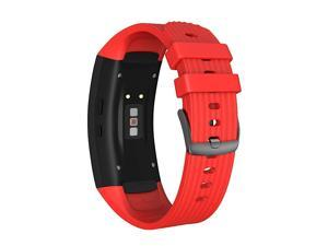 Compatible Samsung Gear Fit2 Pro Band Solft Silicone Gear Fit2 Watch Strap for Samsung Gear Fit2 Pro Smartwatch BansRed Small
