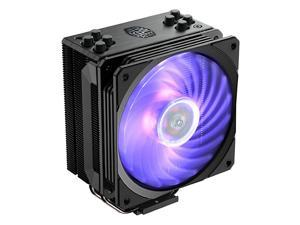 Hyper 212 RGB Black Edition CPU Air w SF120R 120mm RGB Fan 4 Continuous Direct Contact 20 Heatpipes Anodized GunMetal Black Brushed Nickel Fins Intel LGA1151 AMD AM4Ryzen