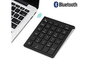 ZUEN Small Keyboard 28-Key Bluetooth Numeric Keypad Financial Accounting Office Switch-Free Laptop for Office Silver