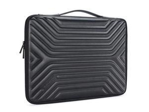 156 Inch Shockproof Waterproof Laptop Sleeve with Handle Lightweight Soft EVA Tablet Case for 156 Laptops Apple Lenovo IdeaPad Acer Aspire E15 HP Envy 15 Dell Black