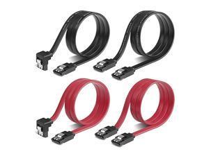 SATA Cables4 Pack  SATA Data Cable 6Gbps SATA 3 Cable SA04001