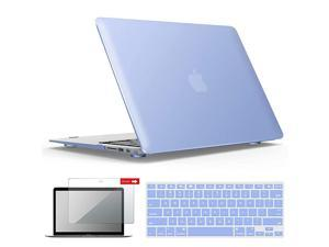 Old Version MacBook Air 13 Inch Case 20102017 Release Models A1466 A1369 Plastic Hard Shell Case with Keyboard Screen Cover for Apple Mac Air 13 Serenity Blue A1301SRL+2