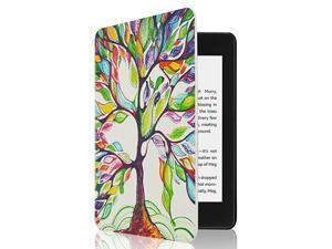 Kindle Paperwhite Case All New PU Leather Smart Cover with Auto Sleep Wake Feature for Kindle Paperwhite 10th Generation 2018 Released Lucky Tree
